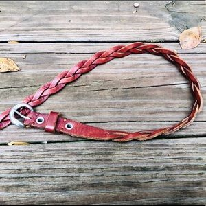 Abercrombie & Fitch Braided Leather Belt